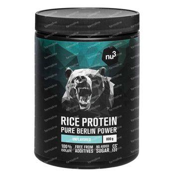 nu3 Protéine de Riz 800 g poudre