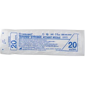 Wegwerpspuit 20 ml Terumo Zonder Naald Luer Ss-20e 1 st