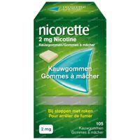 Nicorette® Kauwgom 2mg - bij Stoppen met Roken 105  kauwgoms