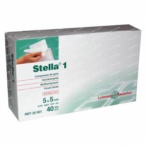 Stella 1 5cm x 5cm 40 St Compresse