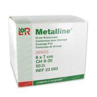 Metalline Steriel Drainagekompres 6 x 7cm 23093 50 st