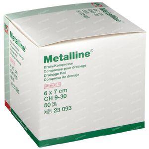Metalline Steriel Drainagekompres 6 x 7cm 23093 50 stuks