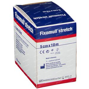 Fixomull Stretch ADH 5cm x 10m 1 stuk