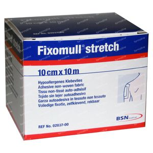 Fixomull Stretch ADH 10cm x 10m 1 stuk