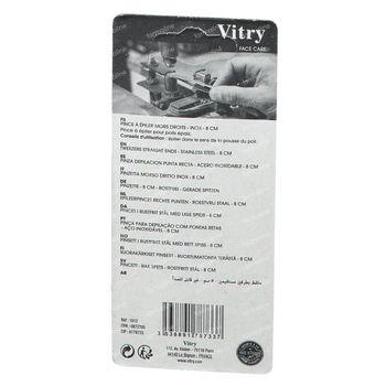 Vitry R12 Pince Epil Droit Inox 1 st