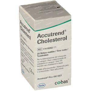 Bandelettes Réactives Roche Accutrend Cholestérol 25 pièces