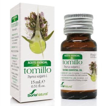 Soria Natural Thymus Vulgaris Thymol Huile Essentielle 15 ml