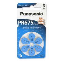 Panasonic Batterij Oorapparaat Blauw Pr 675H 6 st