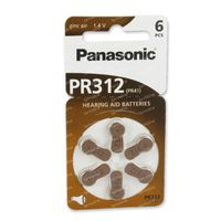 Panasonic Batterij Oorapparaat Bruin Pr 312H 6 st