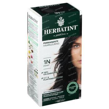 Herbatint Permanente Haarkleuring Zwart 1N 150 ml