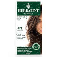 Herbatint 4N Kastanje – 100% Biologische, Permanente Vegan Haarkleuring – met 8 Plantenextracten 150 ml