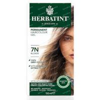 Herbatint 7N Blond – 100% Biologische, Permanente Vegan Haarkleuring – met 8 Plantenextracten 150 ml