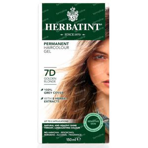 Herbatint Permanent Hair Coloring Golden Blond 7D 150 ml