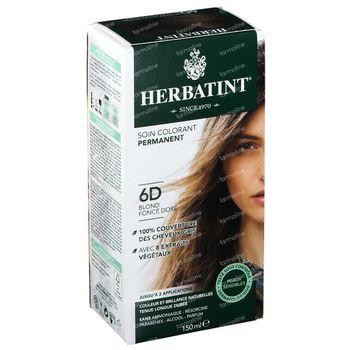 Herbatint Colorant Cheveux Permanente Blond Foncé Doré 6D 150 ml