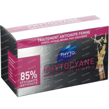 Phyto Phytocyane Wachtstumfördernde Anti-Haarausfall Kur 12x7,5 ml