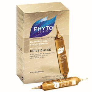 Phyto Huile d'Ales Olio Luminosità Alta Idratazione Capelli Secchi 5 x 10 ml ampolle