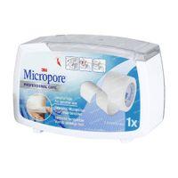 3M Micropore Surgical Tape Dispenser 2,5cmx9,14m 1530-1/D 1 stuk