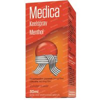 Medica Keelspray Menthol Keelpijn 30 ml