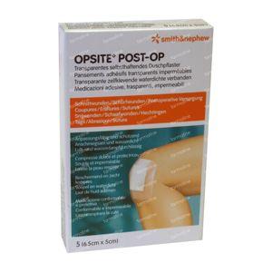 Opsite Post-Op 6.5 x 5cm 66030313 5 stuks