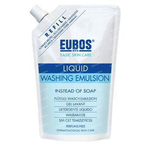 EUBOS Vloeibare Was Emulsie (Blauw) Navulling 400 ml