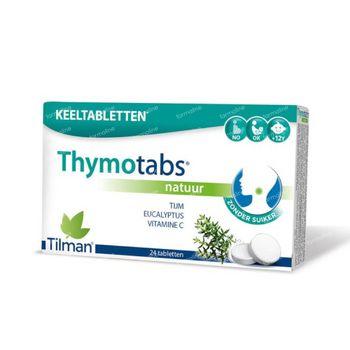 Thymotabs Goût Naturel 24 comprimés à sucer