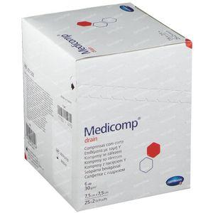 Hartmann Medicomp Drain Stérile Compresse 6 Plis 7.5 x 7.5cm 421533 50 pièces