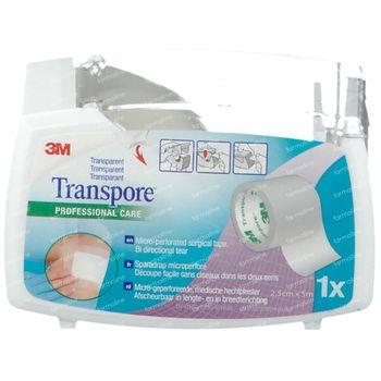 3M Transpore Sparadrap Chirurgical Dévidoir 2,5cm x 5m 1527-1/D 1 pièce