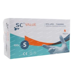 Gant Sensicare Value Medica Small 10-0105 100 pièces