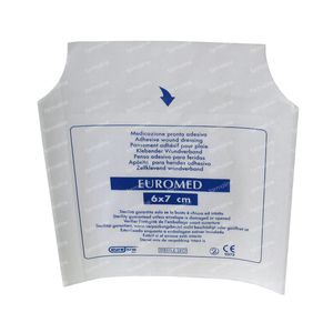 Euromed 6cm x 7cm Island Plaster ADH Sterile 1 St
