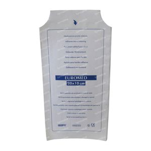 Euromed 10cm x 20cm Island Plaster ADH Sterile 1 St