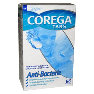 Corega Tabs Anti-Bacterie 66 tabletten