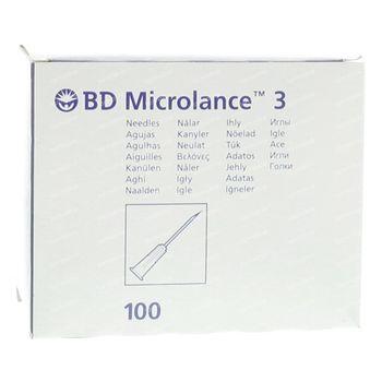 BD Microlance 3 Aiguilles 22 G 0.7x30mm 100 pièces
