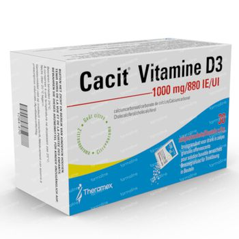 Cacit Vitamine D3 1000/880 - Calciumsupplement bij Osteoporose 30 zakjes