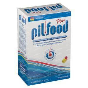 Pilfood Plus - Vitamines Pour Les Cheveux 180 capsules