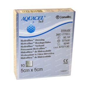 Aquacel Pansement Hydrofiber Sterile 5cm x 5cm 10 pièces