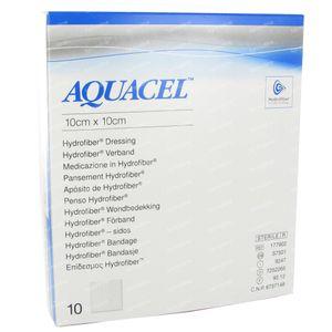 Aquacel Pansement Hydrofiber Sterile 10cm x 10cm 10 pièces