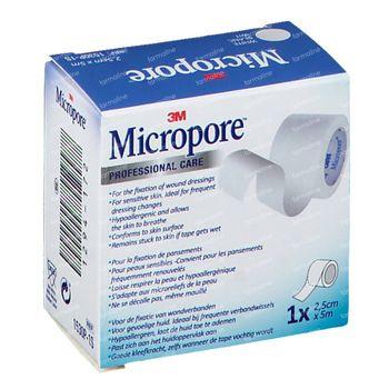 3M Micropore Sparadrap Chirurgical 2.5cm x 5m 1530/2B 1 emplâtre