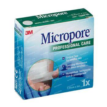 3M Micropore Sparadrap Chirurgical 1,25cm x 5m 1530/1B 1 pièce