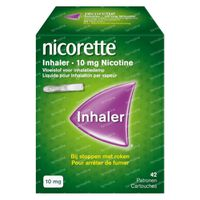 Nicorette® Inhaler 10mg 42 Patronen - bij Stoppen met Roken 1 stuk