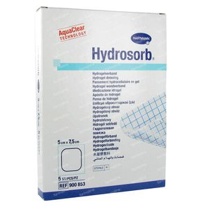 Hartmann Hydrosorb 5 x 7.5cm 900853 5 stuks