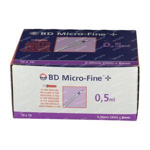 BD Microfine+ Ins.Sp 0.5 ml 30g 8 mm 100 st