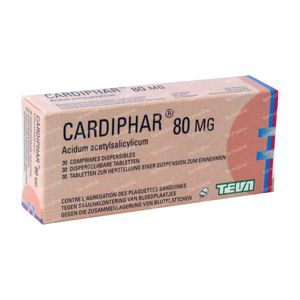 Cardiphar 80mg 30 tabletten