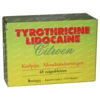 Tyrothricine Lidocaïne Citroen 48  zuigtabletten