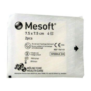Mesoft Sterile 7,5cm x 7,5cm 2 compresses