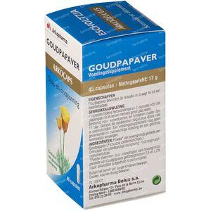 Arkocaps Goudpapaver Plantaardig 45 St Capsules