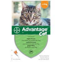 Advantage 40 Spot-On Oplossing Kat <4kg 4x0,4 ml