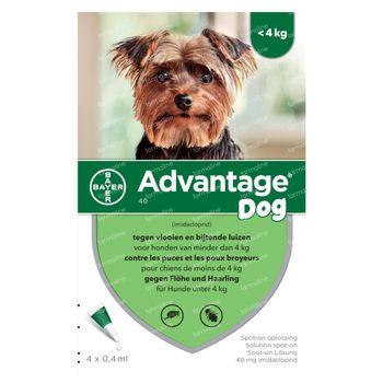 Advantage 40 Spot-On Solution Chienv <4kg 4x0,4 ml