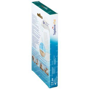 3M Tegaderm + Pad Pansement Transparant Avec Compresse Absorbante 5cmx7cm 5 pièces