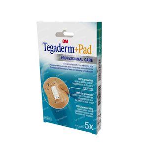 3M Tegaderm + Pad Transparant Verband 5 x 7cm 3582P 5 stuks
