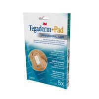 3M Tegaderm + Pad Transparant Filmverband Met Absorberend Kompres 9cm X 10cm 3586P 5 st